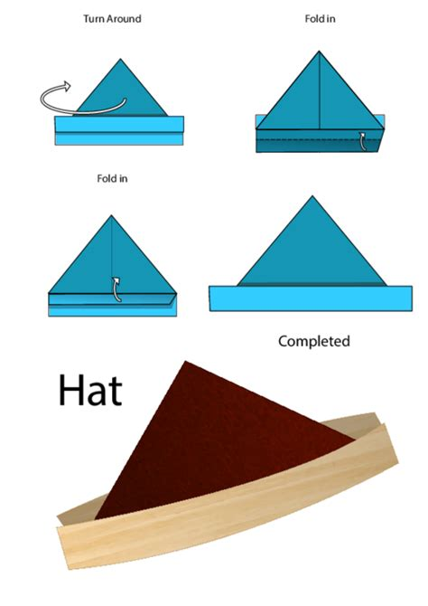 Simple Origami Directions - easy origami hat kidspressmagazine