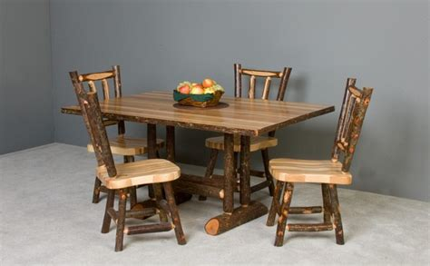 log kitchen table and chairs hickory table and chairs traditional dining tables