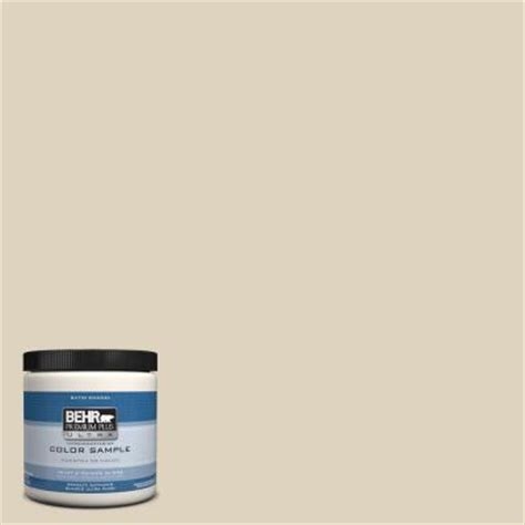behr premium plus ultra 8 oz ppu4 12 almond interior exterior satin enamel paint