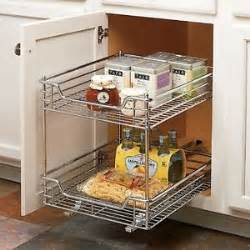 heavy duty 2 tier slide out cabinet kitchen pantry