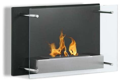 senti modern wall mounted ventless ethanol fireplace