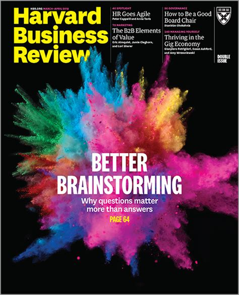 Harvard Mba Questions by Better Brainstorming