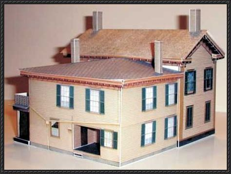 Paper Craft Home - abraham lincoln home free building paper model