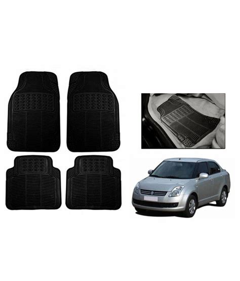 Rubber Mats For Car by Speedwav Black Rubber Car Floor Foot Mats Maruti