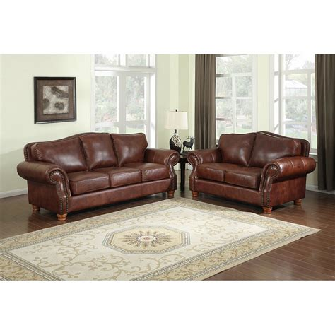 Leather Sofas by Brandon Distressed Whiskey Italian Leather Sofa And