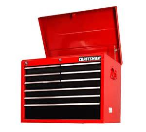 craftsman 27 quot 9 drawer top chest top notch tool storage