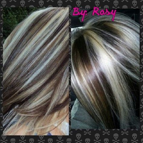 pictures of highlights and lowlights and streaks in hair chunky highlights and lowlights bing images hair