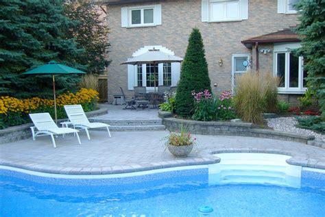 Patio Design Ontario Pool Side Landscape Sles Durham Whitby Oshawa