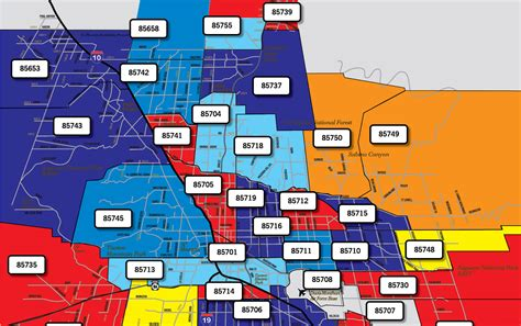 printable zip code map of tucson az tucson zip code map tucson zip code map my blog tucson