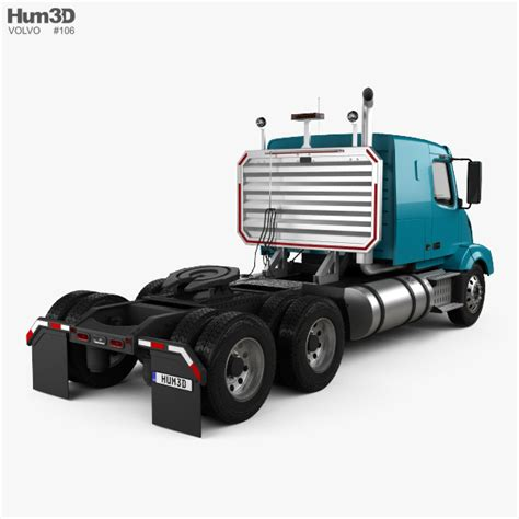 volvo truck 2011 models volvo vnl 430 tractor truck 2011 3d model hum3d