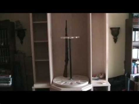 rotating gun cabinet plans  woodworking
