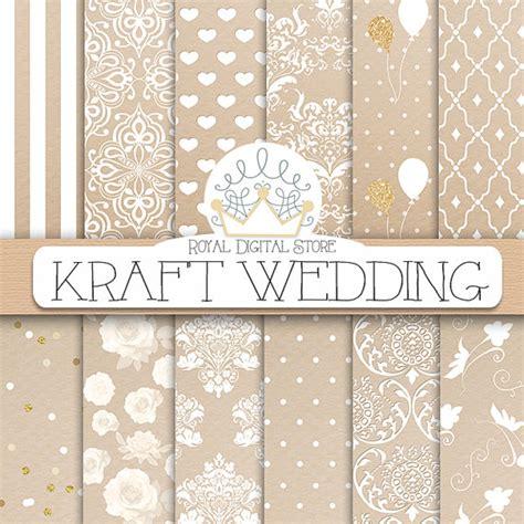 gold patterned kraft paper kraft digital paper kraft wedding with kraft