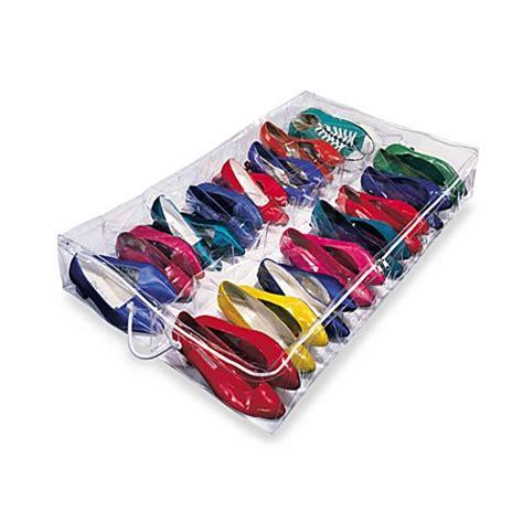 underbed shoe storage organizer clear underbed shoe organizer bed bath beyond