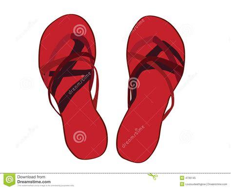 imagenes de sandalias rojas sandalias rojas ilustradas foto de archivo libre de