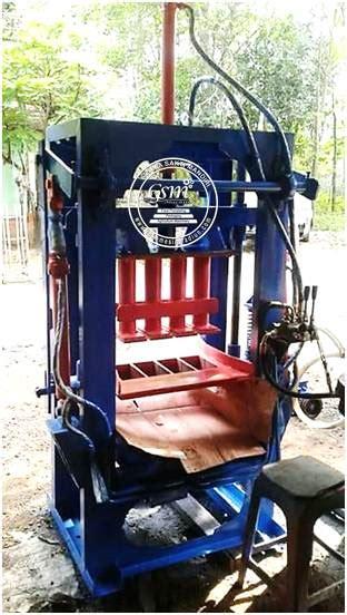 Jual Cetakan Batako Bekas mesin cetak batako hidrolis toko mesin madiun