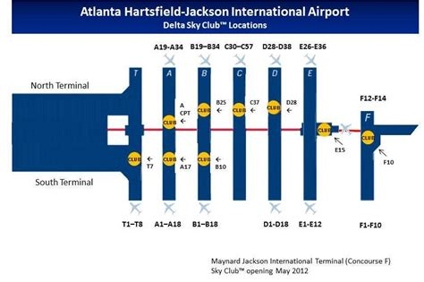 layout of atlanta airport atlanta hartsfield jackson sky club guide flyertalk forums