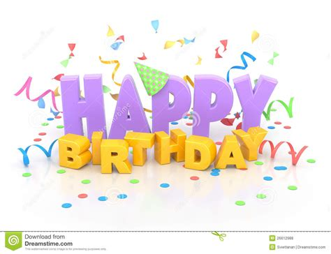 clipart compleanno happy birthday stock illustration illustration of word