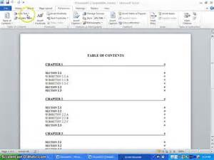 table of contents template word 2010 simple order form template word