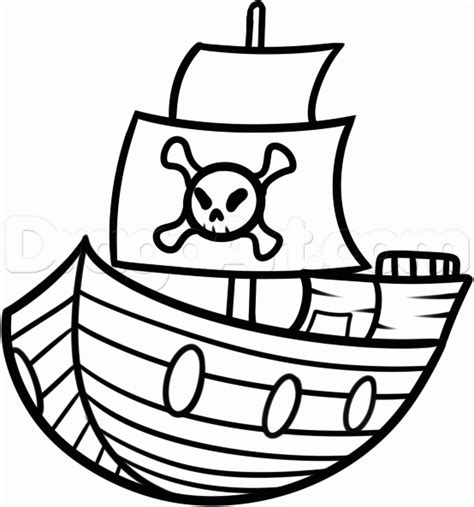 pirate boat drawing easy how to draw a ship for kids step by step boats