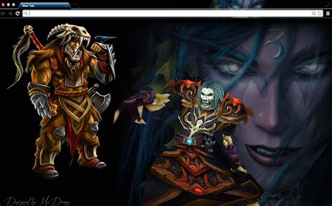 theme google chrome world of warcraft top 10 world of warcraft chrome themes for true wow