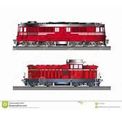 Vista Lateral Del Color De Las Locomotoras Diesel