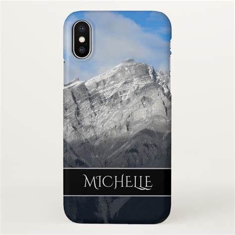 Cloudy Blue Iphone 666s6s77 grey mountain peak cloudy blue sky custom name iphone x