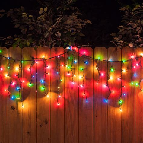 multicolor lights 150 icicle lights multicolor green wire yard envy