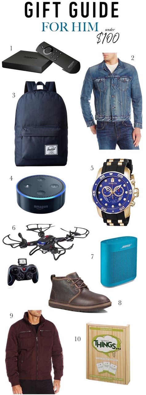 20 foolproof gifts under 100 for every guy on your