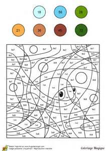 Dessin 224 Colorier Magique Multiplication Un Petit Poisson