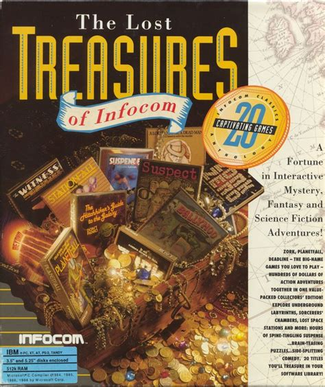 treasure of the lost l the lost treasures of infocom for dos 1991 mobyrank