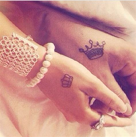cute matching tattoos for couples tumblr king and my everything
