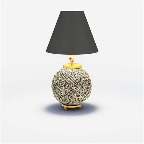 Wire ball table lamp 3d model 3ds max files free download