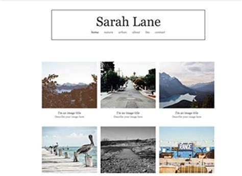outdoor photography website template | wix