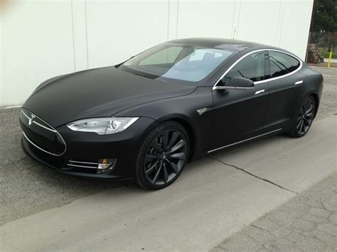 p85 tesla 2013 tesla model s p85 matte black vinyl wrap yelp