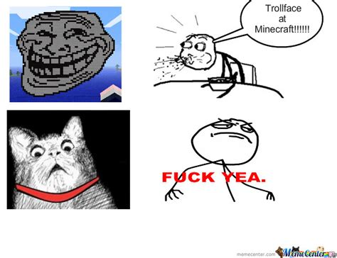 Troll Faces Meme - trollface at minecraft by masterman meme center