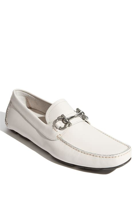 Ferragamo White ferragamo parigi moccasin in white for lyst