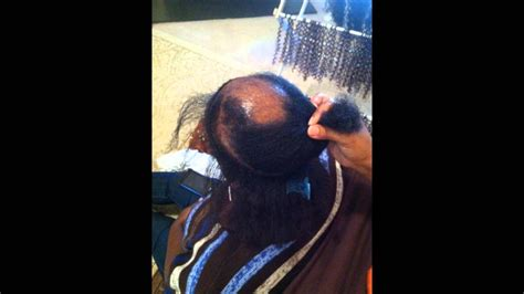 shaved head to hide graying hair ms pks how to cover bald spots with crochet braids youtube