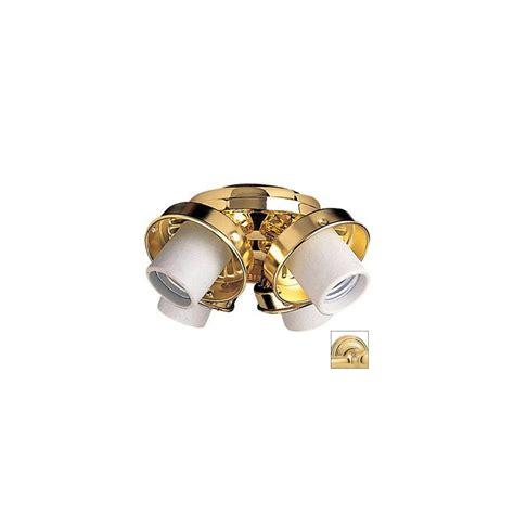 shop nicor lighting 4 light polished brass ceiling fan