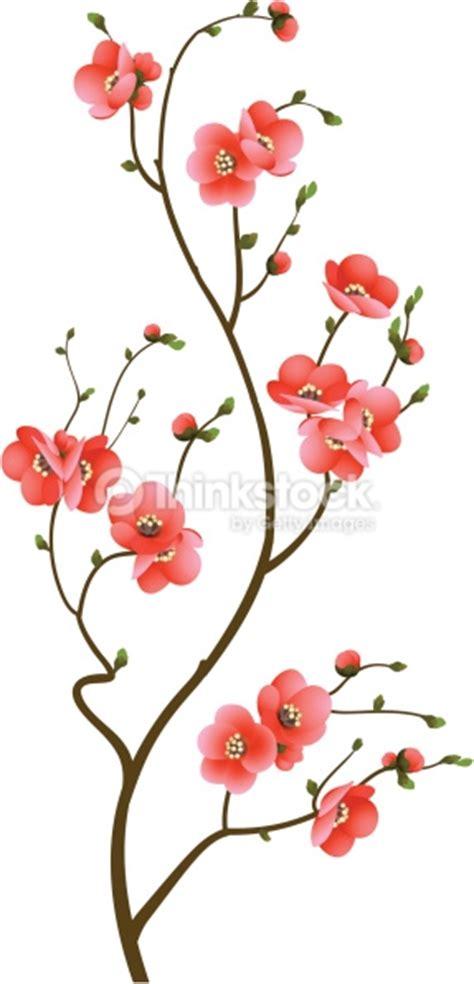 Seprei Motif Orange Blossom 2 arri 232 replan abstrait fleur de cerisier branch clipart