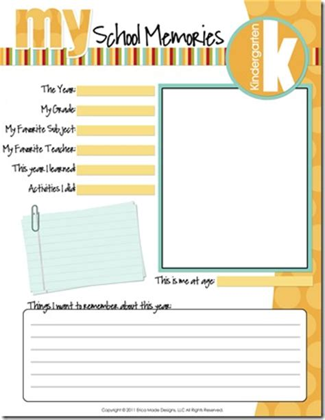 memory template school days memory keeping confessions of a homeschooler