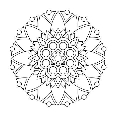 color by numbers coloring book of mandalas a mandalas and designs color by number coloring book for adults for stress relief and relaxation color by number coloring books volume 25 books free printable mandala coloring pages image number 28