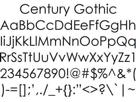 style fonts font alphabet styles century
