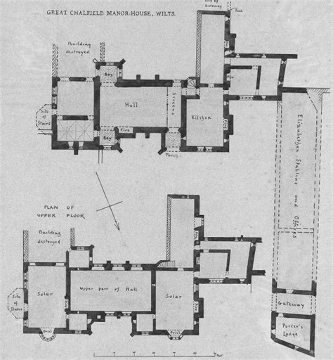 medieval manor house floor plan plans for great chalfield manor medieval manor palaces pinterest drawings and search