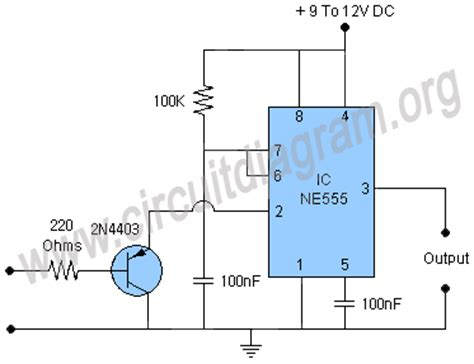 pulse detector circuit diagram missing pulse detector using 555 timer ic circuit diagram
