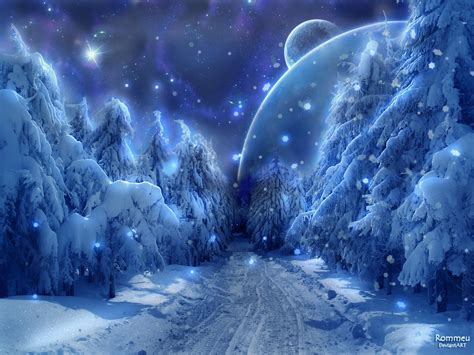 bing images beautiful moon winter fantasy backgrounds wallpaper 1600x1200 22439