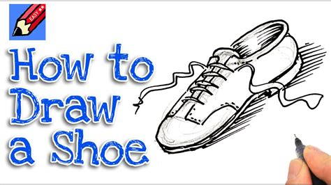 learn how to draw a shoe real easy for and beginners