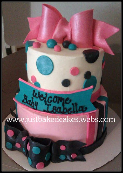 Black And Pink Baby Shower Cakes by Pink Turquoise Black Baby Shower Cake