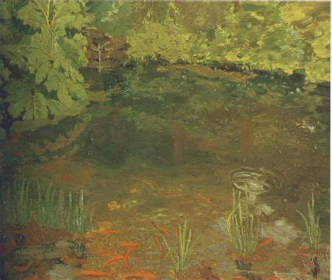 Modern Paints by The Goldfish Pool At Chartwell Winston Churchill