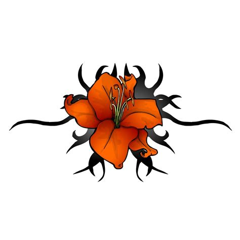 red flower tattoo designs flower designs flowers tribal orange and
