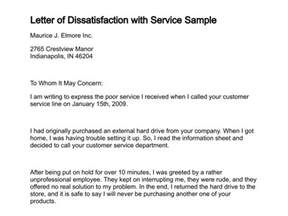 letter of dissatisfaction